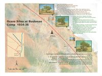 This poster provides information about the death and burial of a number of San community members within the Kgalagadi Transfrontier Park. It includes an inset map showing the Nossob and Twee Rivieren rest camps in the Kgalagadi Transfrontier Park. [Scale included]