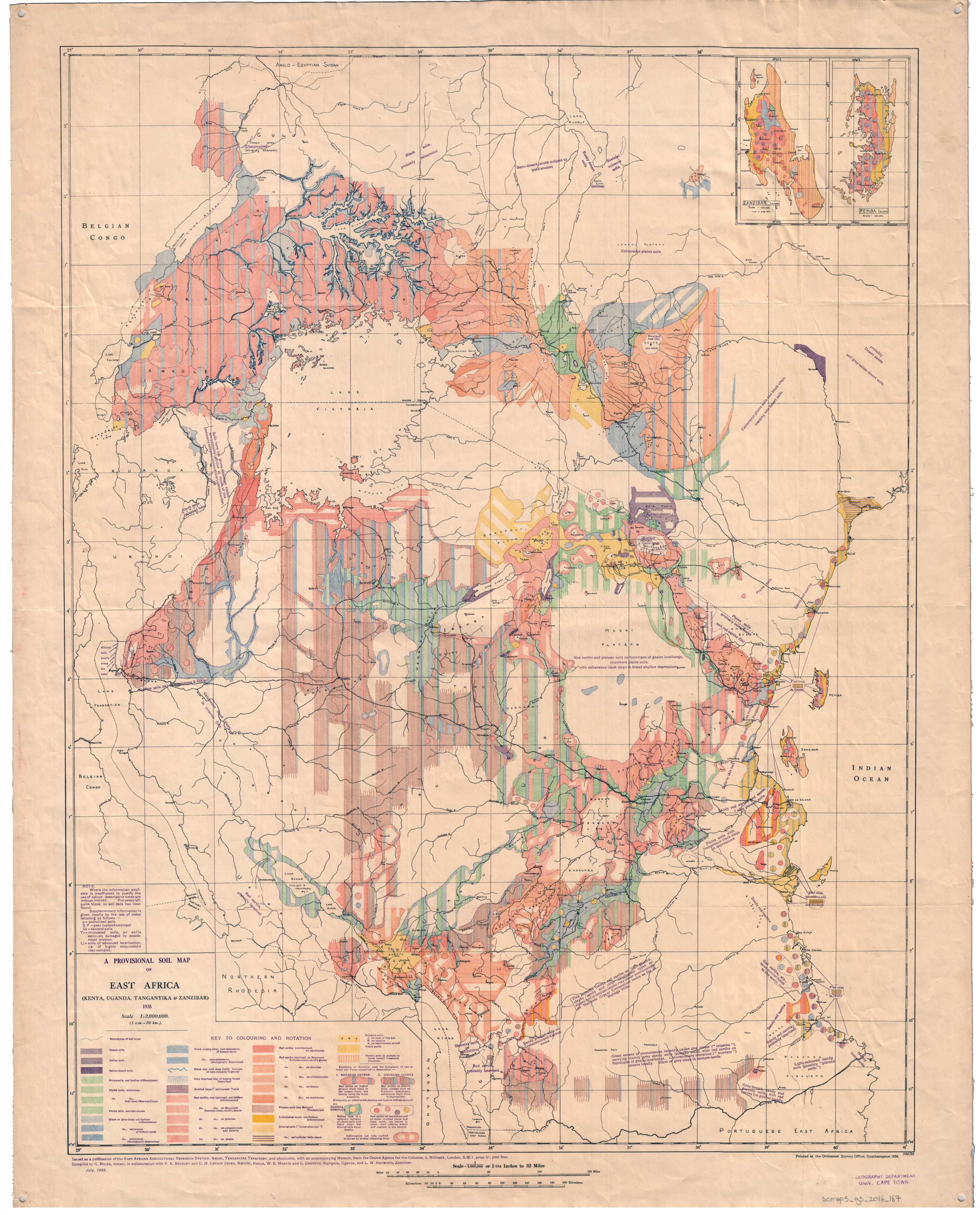 A provisional soil map of East Africa Kenya Uganda Tanganyika