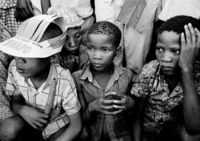Children at a SWAPO meeting