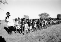 Children in funeral procession