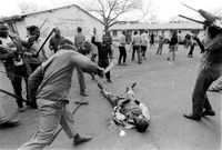 Hostel wars, South Africa, 1990