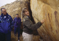 Showing rock paintings