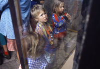 Children viewing the Main Caves Bushmen Museum
