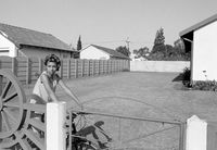 Young girl on bicycle, Germiston, South Africa