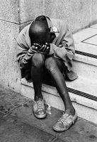 Homeless child, Johannesburg, 1974