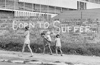 Street graffiti, Johannesburg, 1976