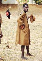 Man with goat head, Malawi, 1969