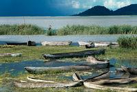 Canoes, Likoma Island, Lake Malawi, 1969