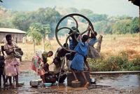 Rural water pump, Malawi, 1969