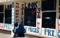 Street scene, South Africa, 1974