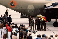 Exhumed remains of ZANLA leaders repatriated for reburial, Zimbabwe, 1980