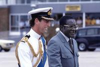 Robert Mugabe with Prince Charles, Zimbabwe, 1980
