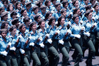 Women's detachment of the Cuban Revolutionary Army, May Day celebrations, Havana, Cuba, 1980