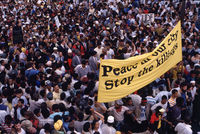 Protest march, Cape Town, 1989