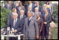 Mandela and De Klerk at a meeting, Cape Town