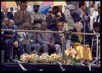 Political leaders, release of prisoners, Soweto, 1989