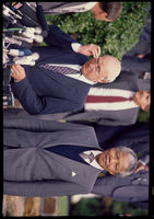 Mandela and De Klerk at a meeting, Cape Town, 1990