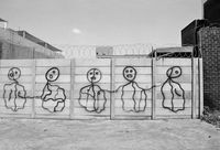 Drawings on wall, Johannesburg, South Africa