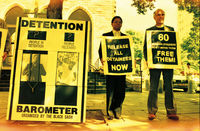 Protest for release of detainees, Cape Town