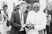 Ivan Toms with Desmond Tutu, Cape Town