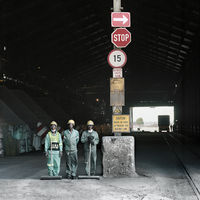 Three cleaners at Ferrometals, Witbank, South Africa