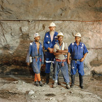 Miners, Bultfontein Mine, Kimberley, South Africa