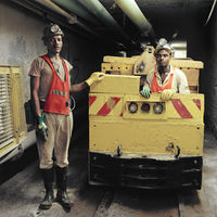 Loco operators, Tautona Mine, Carletonville, South Africa