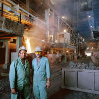Two mine workers, Base Metals Refinery, Lonmin, South Africa
