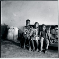 Three AIDS orphans, Hlabisa, South Africa