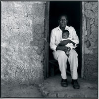HIV positive Aniliswa Mtimande with her father, Hlabisa, South Africa
