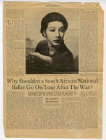 """Why shouldn't a South African National ballet go on tour after the war?"""