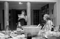 Nia reading at a dinner party, Johannesburg