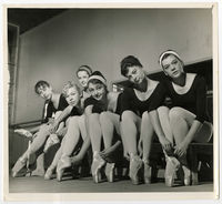 UCT Ballet Company in rehearsal room in the old Hangar on Woolsack Road