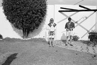 Playing croquet, Johannesburg, South Africa
