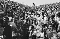 Protest, Johannesburg, 1990