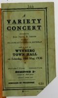 Variety concert programme, 1936