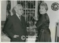 Pranas Domšaitis and his wife, Adelheid Armhold at his 80th birthday party, Cape Town