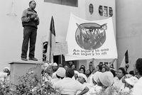 NEHAWU protest, Johannesburg, 1990