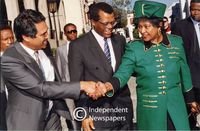 Winnie Mandela arrives at Parliament, Cape Town