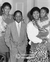 Nelson and Evelyn Mandela's daughter with her son, Cape Town