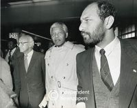 Nelson Mandela and Trevor Manual, Cape Town