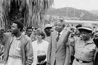 Mandela at SAYCO rally, Mbombela, 1990