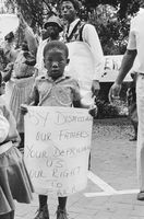 CWIU protest, Johannesburg, 1990