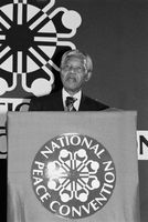 Mandela at National Peace Convention, Johannesburg, 1991