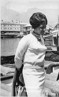 Winnie Mandela at the docks in the Waterfront, Cape Town