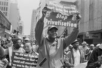 COSATU march, Johannesburg, 2001