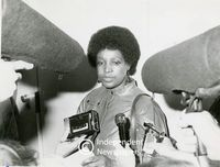 Winnie being interviewed by the media, Cape Town