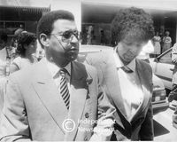 Winnie Mandela and Allan Boesak after visiting Nelson Mandela in hospital, Cape Town