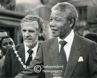 Nelson Mandela and Mayor of Cape Town, Gordon Oliver, Cape Town