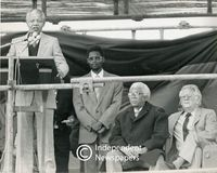 Nelson Mandela with Walter Sisulu and Joe Slovo, Cape Town